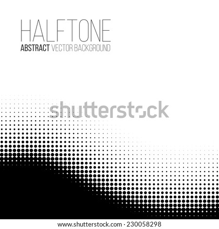 Abstract dotted wave vector background - stock vector