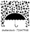 Abstract drawing of rain puzzle pieces - stock vector