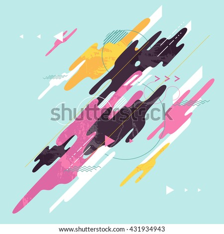 Abstract dynamic geometric background - stock vector