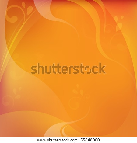 Abstract Dynamical Red And Orange Background With Frame - stock vector