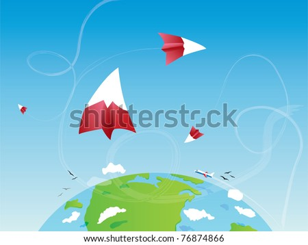 Abstract earth wallpaper - stock vector