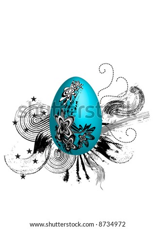 abstract easter eggs - stock vector