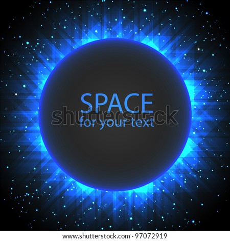 Abstract eclipse background.Vector eps10 - stock vector