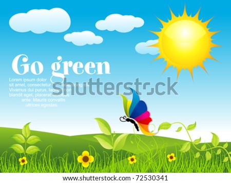 abstract eco background vector illustration - stock vector