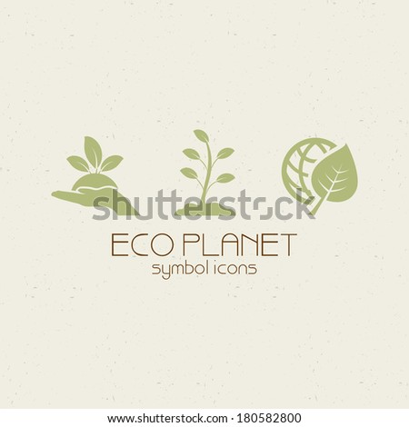 abstract eco planet objects on a special background - stock vector