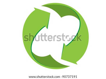 abstract eco recycle icon vector illustration - stock vector