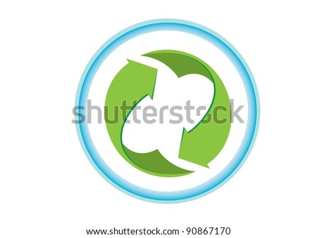 abstract eco recycle icon  vector illustration
