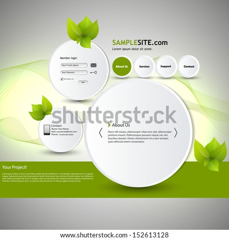Abstract Eco website /Bubble style/ Eps 10  - stock vector