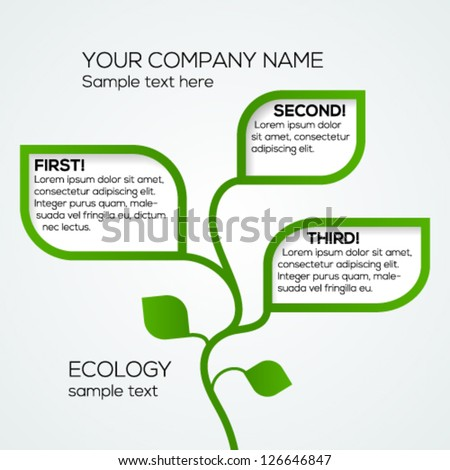 Abstract ecology business template. Vector illustration.