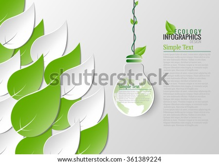 Abstract ecology connection concept background .Vector 