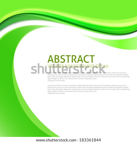 Abstract Ecology Green Curves Background - stock vector