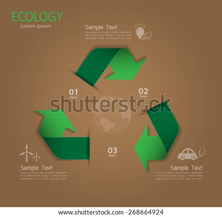 Abstract ecology template. Vector illustration EPS 10 - stock vector