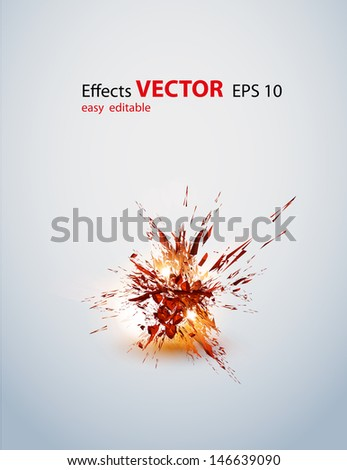 Abstract effect vector eps10 - stock vector