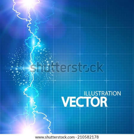 Abstract electric background. Vector illustration - stock vector