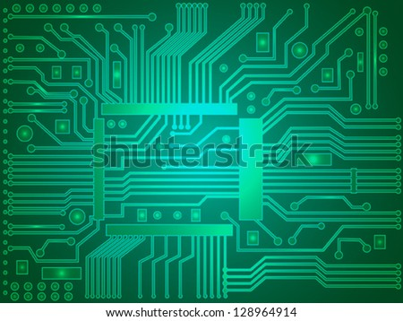 Abstract electronic wallpaper. - stock vector