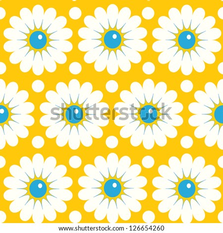 Abstract Elegance Seamless pattern with floral background. Daisy - stock vector