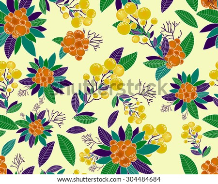 Abstract Elegance Seamless pattern with floral background. Vector pattern with flowers and plants. Floral decor. Original floral seamless background. - stock vector