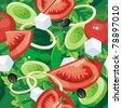 Abstract Elegance seamless Salad food pattern, Vegetable vector illustration - stock vector