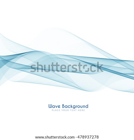 Abstract elegant blue wave background design
