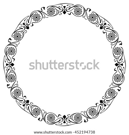 Abstract elegant frame. Design element for advertisements, logo, banners, labels, prints, posters, web, presentation, invitations, weddings, greeting cards, albums. Vector clip art. - stock vector