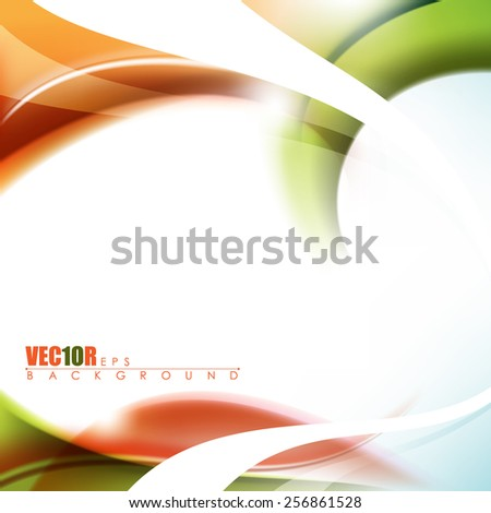 abstract elegant multicolored background with splatter and bent white lines and empty space eps10 vector design - stock vector