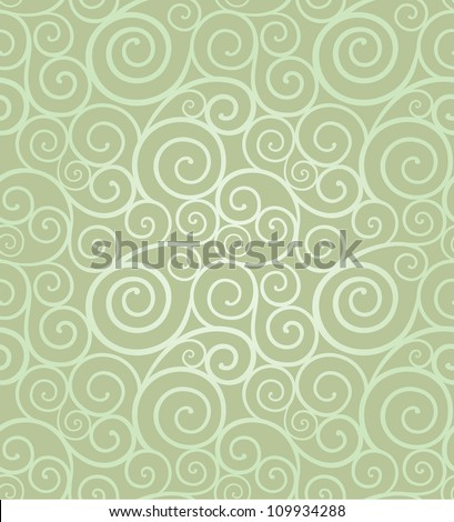 Abstract elegant swirl seamless composition made of spirals - stock vector
