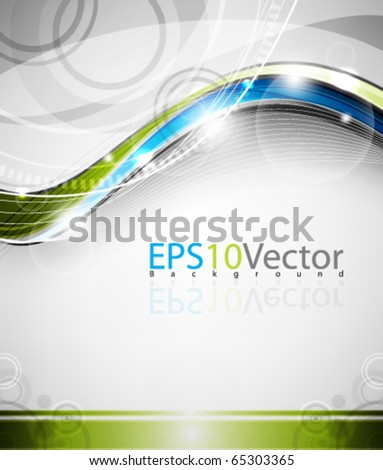 Abstract  elegant wave - stock vector
