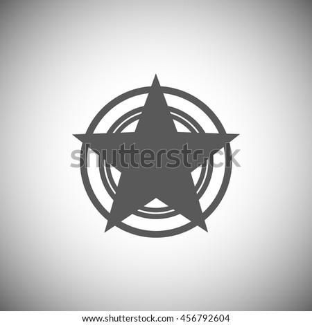 Abstract element,black star icon