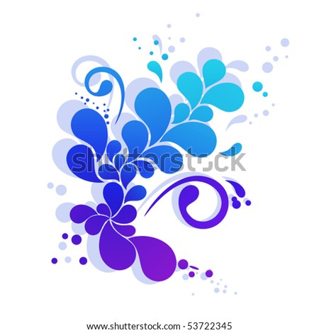 Abstract element looks like colorful flower. Vector illustration for Your design - stock vector