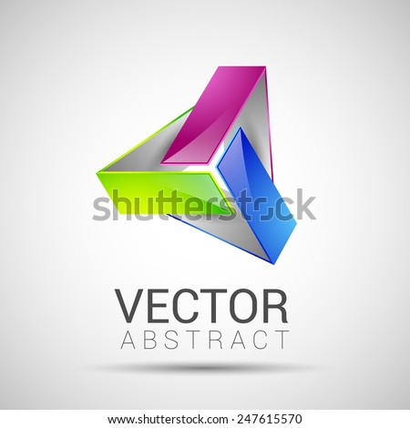 abstract element shape vector design icon ribbons - stock vector