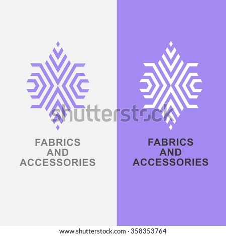 Abstract emblem- textiles, fabrics and accessories. Vector logo design template for needlework, sewing, tailoring and ateliers - stock vector