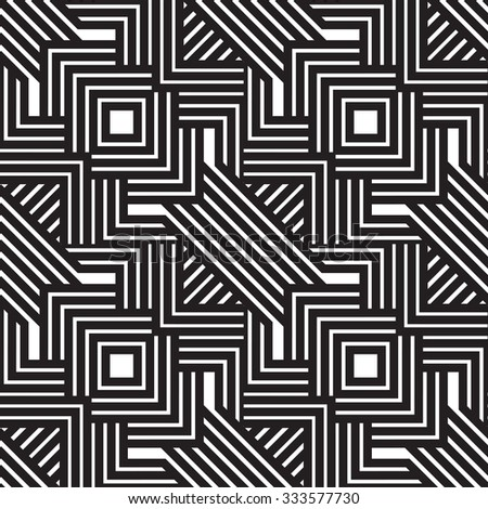Abstract embroidery geometric seamless pattern. Modern stylish geometric background with lines for business