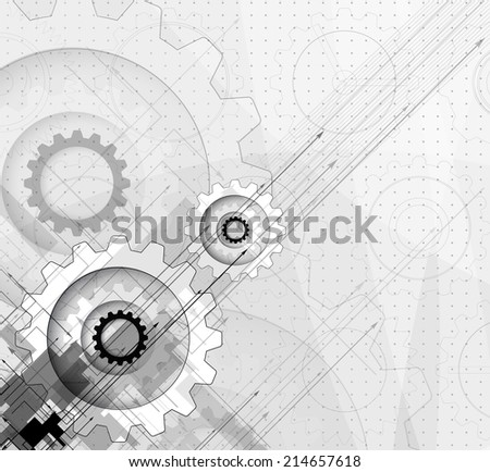 abstract engine gear vector new technology background communication and information business industry
