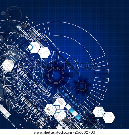 Abstract engineering future technology background. Vector - stock vector
