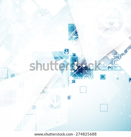 Abstract engineering technology background. Vector illustration - stock vector