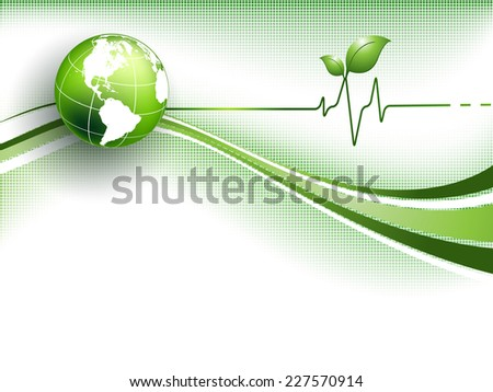abstract environmental vector background with globe. Eps10 - stock vector