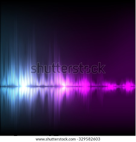 Abstract equalizer background. Blue-purple wave. EPS10 vector.