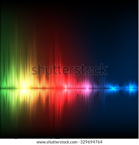 Abstract equalizer background. Green-red-blue wave. EPS10 vector.