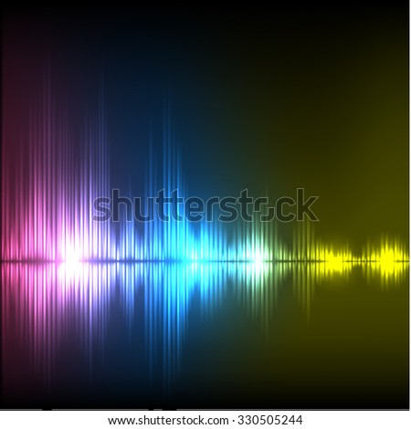 Abstract equalizer background. Purple-blue-yellow wave. EPS10 vector.