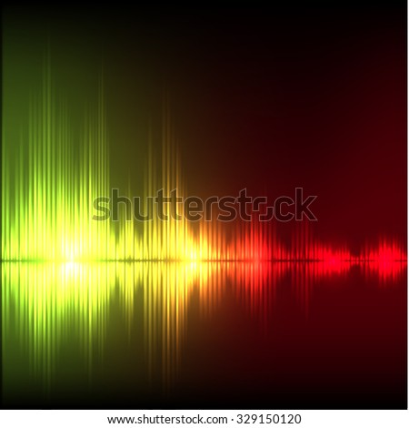 Abstract equalizer background. Yellow-red wave. EPS10 vector.