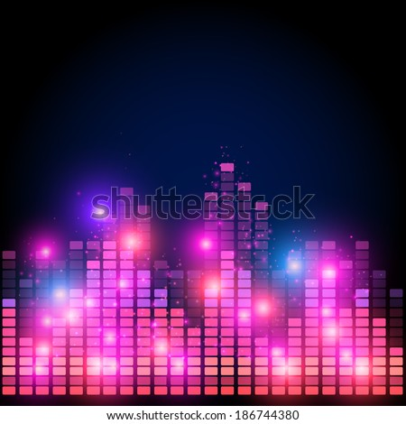 Abstract equalizer,  night music club life vector concept - stock vector