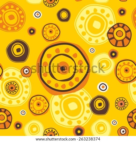 Abstract ethnic colorful seamless pattern in style of primitive culture. - stock vector