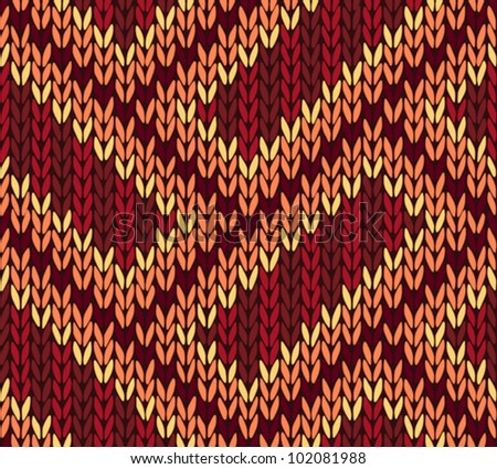 Abstract Ethnic Knitted Seamless Background. Vector illustration