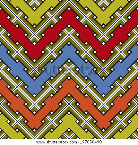 Abstract Ethnic Seamless Geometric Pattern. Vector Illustration  - stock vector