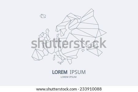Abstract europe logo. Vector logotype design. - stock vector