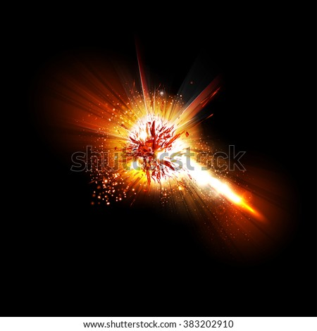 Abstract explode effect easy all editable - stock vector