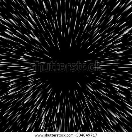 Abstract exploding effect. Black and white vector illustration