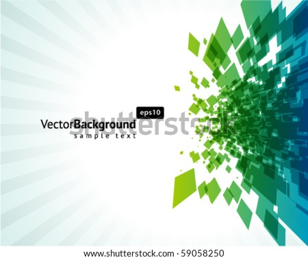 Abstract explore square mosaic vector background - stock vector