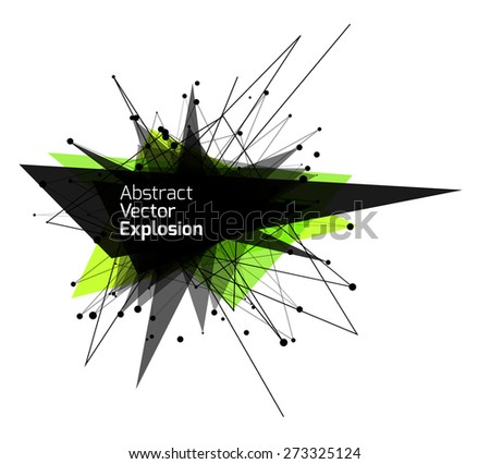Abstract explosion banner. Vector illustration.Vector illustration. - stock vector