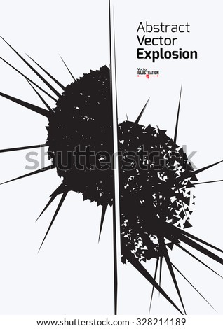 Abstract Explosion Design A4 A3 Format Stock Vector 328214189